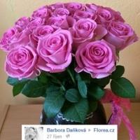 Krásná kytice růží
